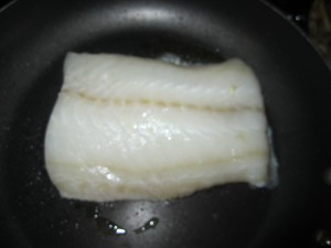 Sear Fish on one side