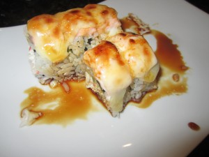 Baked Salmon Roll with Cream Cheese...as you see a couple pieces are missing before I got to take the picture