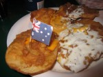 Australian Battered Potatoes with cheese and ranch!!!! WOAHHHH!